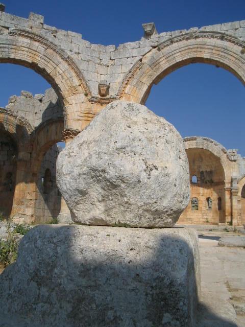 Остатки столба, на котором стоял Симеон Столпник